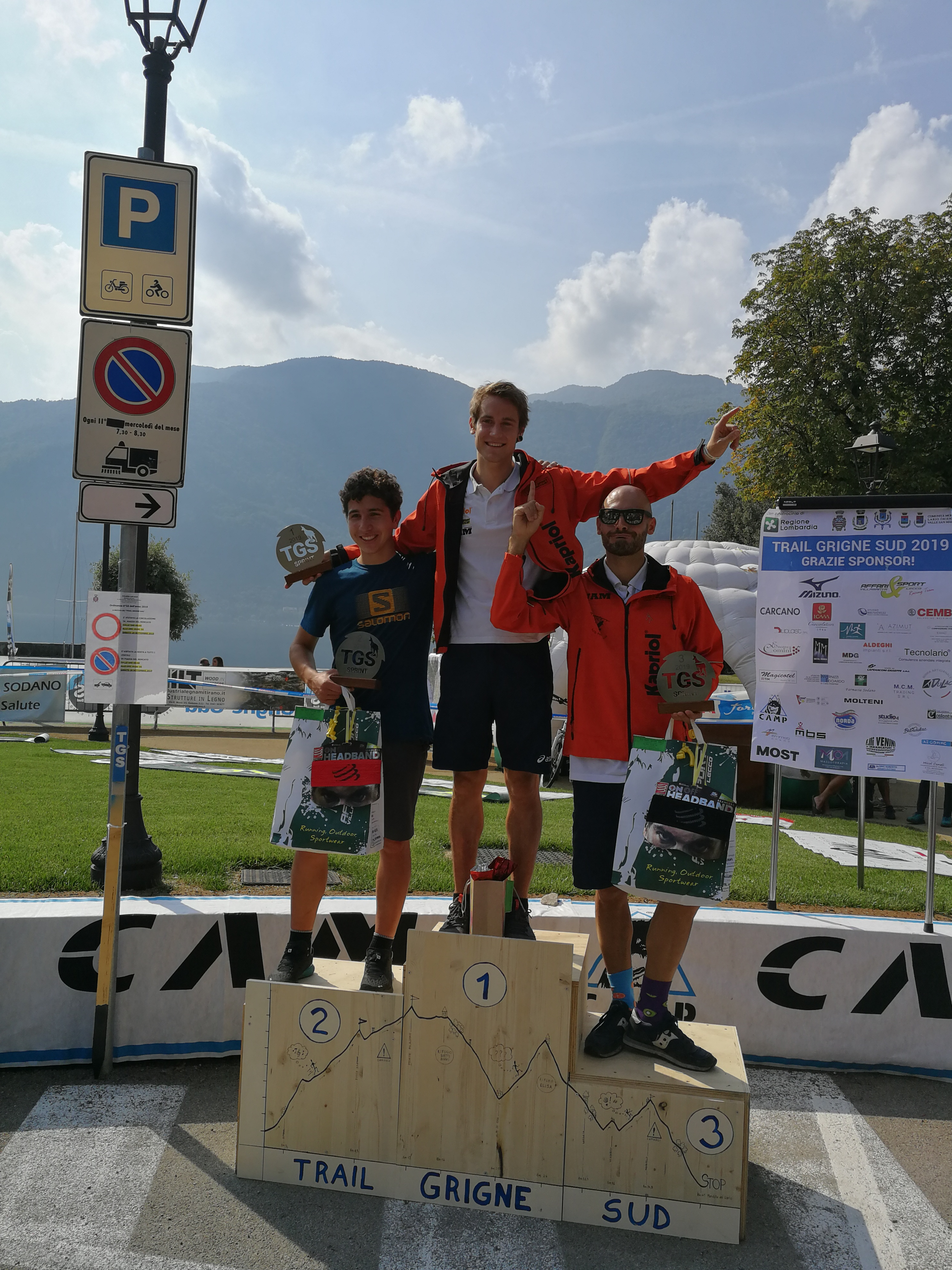 Podio maschile TGS Sprint