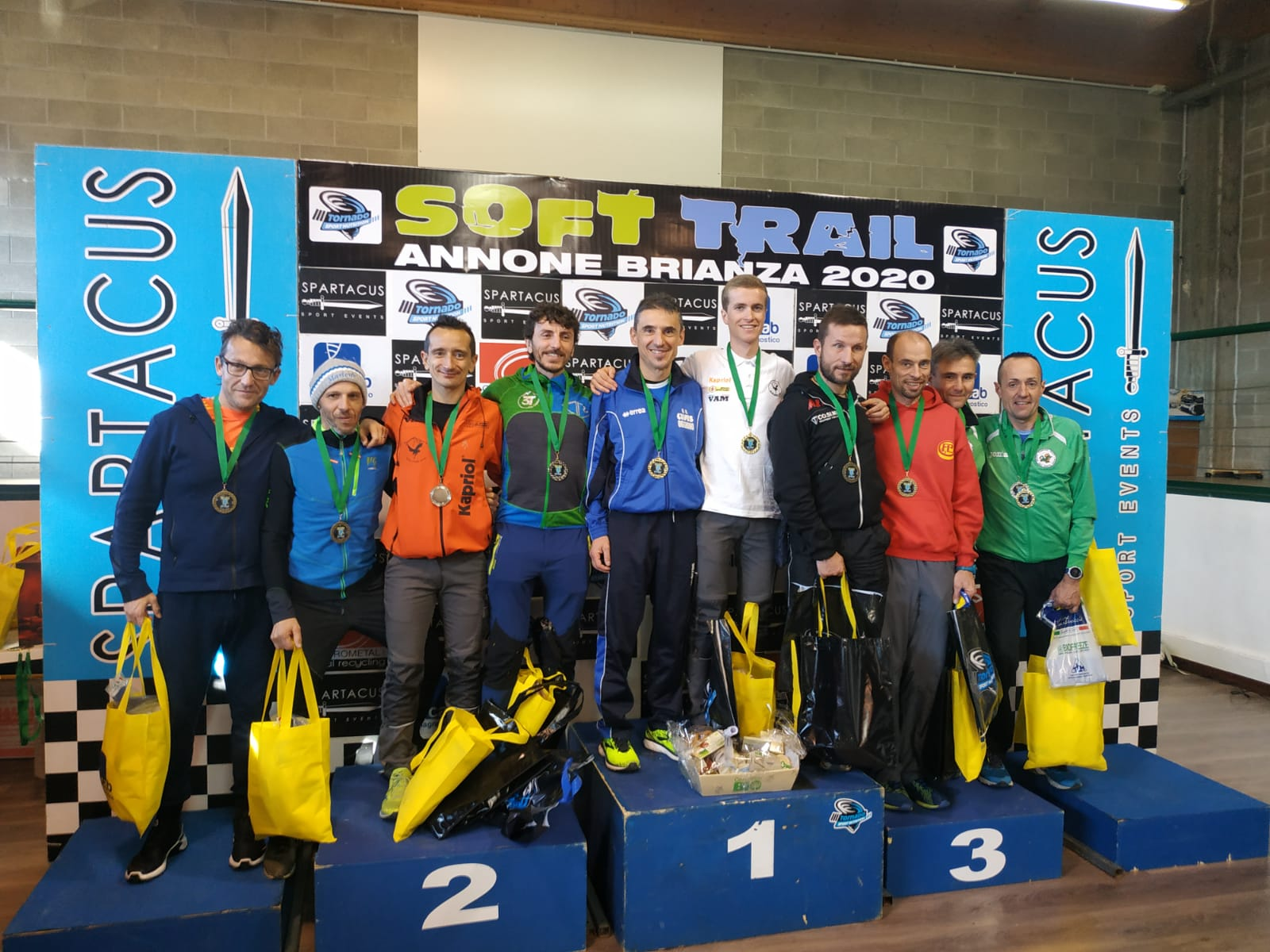 Il podio del Soft Trail